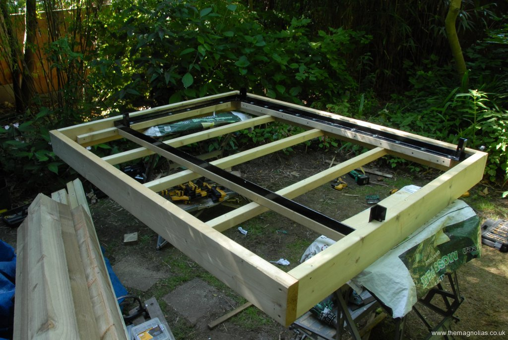 wood added to steel frame 2nd July