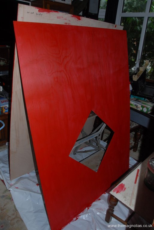 Wall side out sides being painted indoors - 1st Ocy