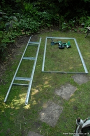 steel fencing cut and laid out 17th June