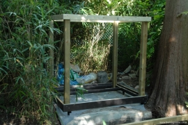Uprights and top frame built 9th July