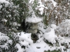Granite Lantern in Snow
