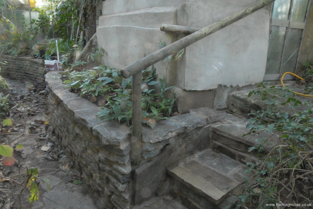 Air Raid Shelter Steps and Raised Bed