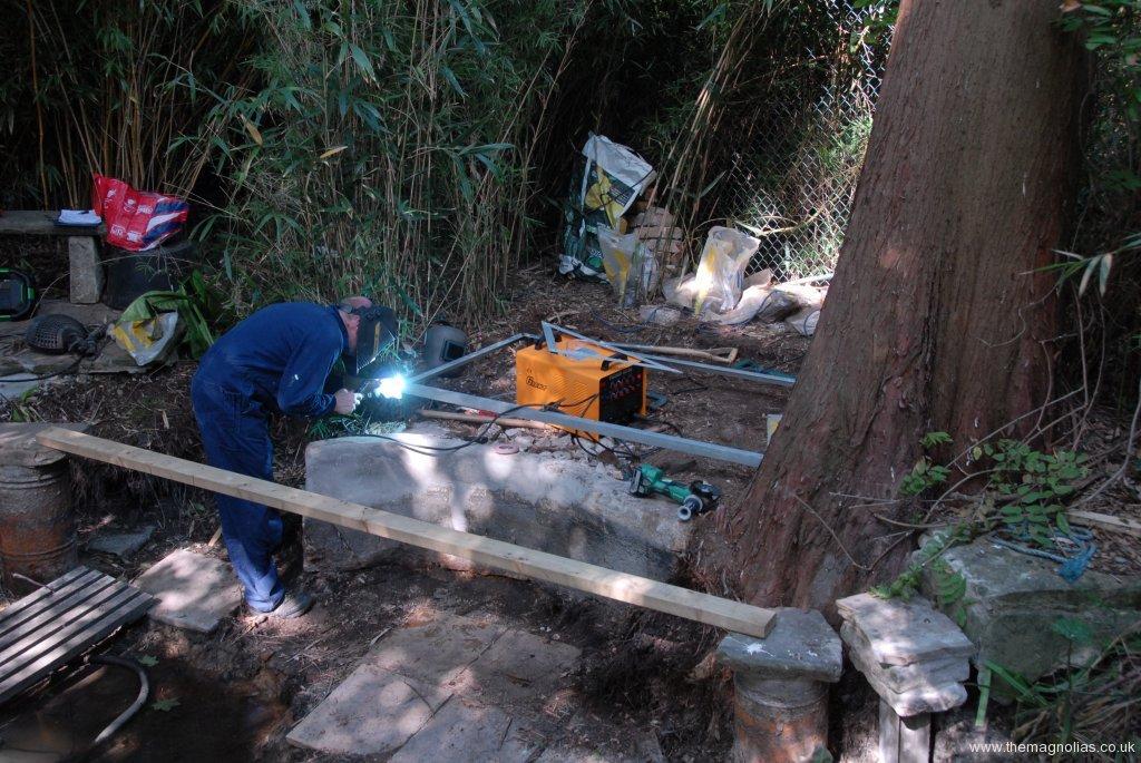Daryl welding pagoda frame 18th June
