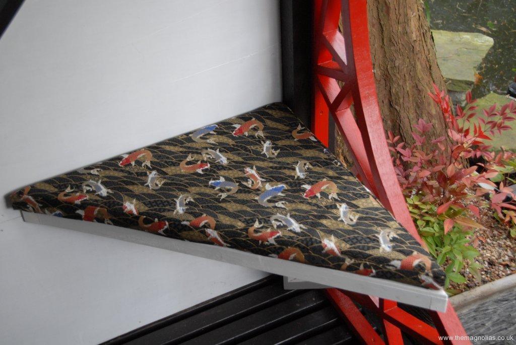 Linda\'s new koi cushion