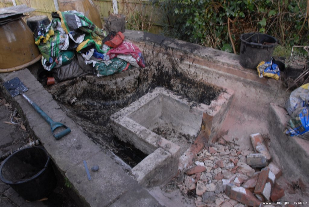 Waterlily box being demolished