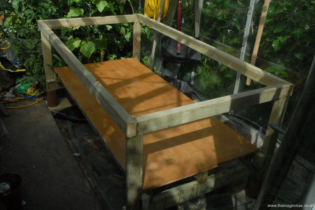 Wooden frame constructed